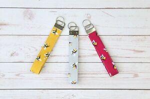 Key Fobs Wristlet, Handmade Key Fobs, Fabric Key Chain, Key Fob, Key Wristlet