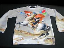 Mr.1991 Inc & Miss ir Adulto Grande soldado a caballo Gráfico Suéter Sudadera