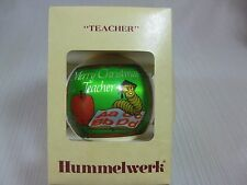 Hummelwerk Christmas Teacher Ornament 1979 The Personal Touch alphabet enclosed