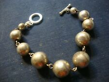 Old Pawn Huge Big Chunky Bracelet Mexico Ball Estate 925 Sterling Silver
