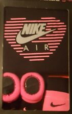Nike Air 3 PC Black & Pink Heart Creeper Set Infant  Booties Size 0-6 Months