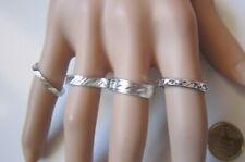 Lote 4 anillos aluminio colores nº 9 ó 18 mm diámetro medio bisutería r-43