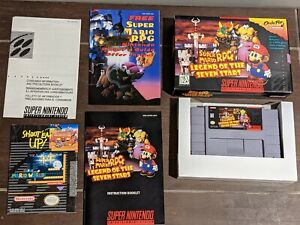 Super Mario RPG Legend of the Seven Stars Super Nintendo SNES CIB Complete MINT