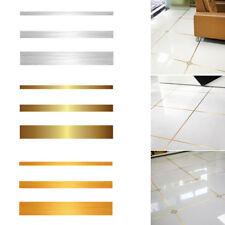 1 Roll Foil Ground Tile Floor Crevice Line Sticker PVC Home Room Decor Supplies