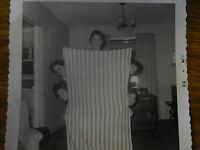 Vintage B&W Photograph Girls Hiding Behind Sheet Slumber Party Teenage 1956 50's