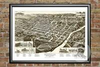 Old Map of Macon, GA from 1887 - Vintage Georgia Art, Historic Decor