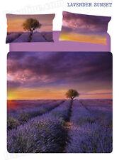 Set Lenzuola / Copriletto Matrimoniale Lavender Sunset Tramonto Viola Caleffi