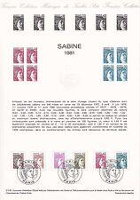 Document Philatélique Timbre 1er Jour : 10/01/ 1981 - Sabine