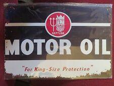 neptune  .motor oil rustic look tin metal sign MAN CAVE