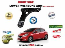 FOR PEUGEOT 208 VTI HDI 2012-->NEW RIGHT SIDE LOWER WISHBONE SUSPENSION ARM