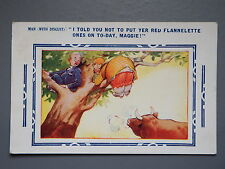 R&L Postcard: Comic, Bamforth 4587, Tree, Red Rag to a Bull - PU1939
