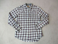 Levis Pearl Snap Shirt Adult Large White Red Plaid Western Rodeo Cowboy Men A9