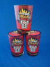 3x Brain Blasterz - FLAMING HOT Candy Sweets - BonBon Buddies 48g - BBE 31.03.20