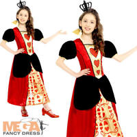 Queen of Hearts Girls Fancy Dress Fairytale World Book Day Childrens Kid Costume