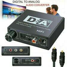 Digital Optical Coaxial to Analog Converter RCA 3.5mm Jack Audio Sound Adapter