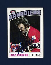 Larry Robinson signed Montreal Canadiens 1976 Topps hockey card
