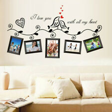Photo Frame Family Tree Bird Removable Quotes Wall Decal Sticker Room Home  Zg