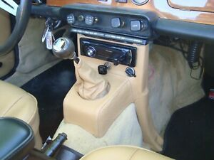 TRIUMPH  TR6 LEATHER  CONSOLE DASH SUPPORT COVER & SHIFT BOOT COMBO Black or Bis
