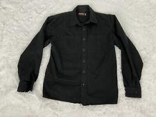 Jesse James Industrial Work Wear Button Up Black Shirt Size Medium