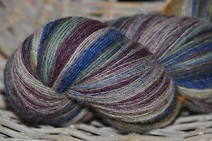 100% Schurwolle Tücherwolle Schafwolle Wolle Lace Strickgarn handgefärbt *912*