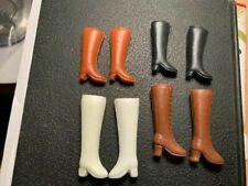 Vintage Barbie Boots (4 Pairs) White/Brown/Black