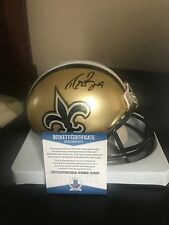 Signed Drew Brees New Orleans  Mini Helmet with Beckett COA