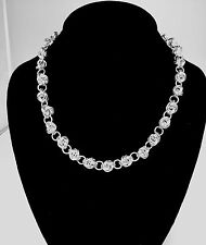 Chainmaille Sterling Silver Knot Necklace - 18 in.  Lighthearted and Charming