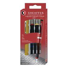 Sheaffer  Classic Calligraphy Mini Kit 3 Nibs & 4 Cartridges New In Box Yellow