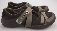 Teva Ryley 6054 Mens 11.5 45 Cross Strap Trail Brown Shoes Hiking Suede Climbing