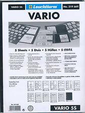 LIGHTHOUSE 25 VARIO STOCK SHEETS 5S FIVE POCKET BLACK BACKGROUND