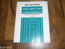 Toyota Automatic Gearbox a45dl a46de a46df Previa Van General Workshop Manual