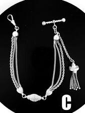 #C. Victorian Sterling Silver Albertina / Albert Watch Chain / Bracelet. NICE1