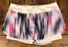 Lululemon Run Light As Air Skirt Mirage Deep Indigo White Size 4