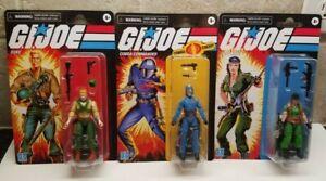 GI Joe Retro Collection Wave 3 Cobra Commander Lady Jaye Duke Walmart Exclusive