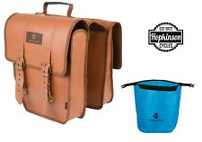 Double Pannier Bag - Amsterdam vintage style Brown - Hybrid Touring bike bicycle