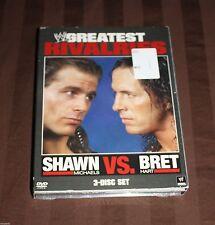 WWE's Greatest Rivalries: Shawn Michaels vs. Bret Hart (DVD, 3-Disc Set) NEW