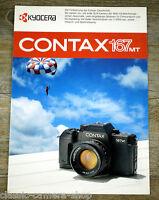 KYOCERA Prospekt CONTAX 167 MT Kamera & CARL ZEISS T Objektive Broschüre (X4077