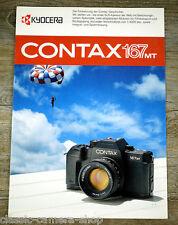 KYOCERA prospetto Contax 167 mt telecamera & Carl Zeiss T opuscolo obiettiva (x4077
