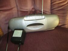 Sony Portable Am Fm Radio Cassette Tape Player Boombox Recorder Model Cfs-E2