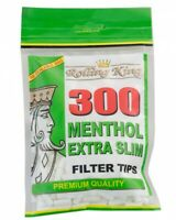 600 (2 x 300) ROLLING KING MENTHOL EXTRA SLIM Cigarette Filter Tips Resealable
