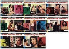 DOLCE PELLE DI DONNA LOTTO FOTOBUSTE 8 PZ. FEMI BENUSSI EROTICO 1970 LOBBY CARD
