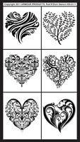 Armour Rub N Etch Stencil Fancy Hearts