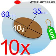 10x OVAL MDF BASE 35x60mm 60x35mm 35mm 60mm DM OVALADA SOCLE WAR HAMMER GAME