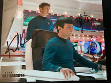 Signed Star Trek Karl Urban and Zachary Quinto Photo
