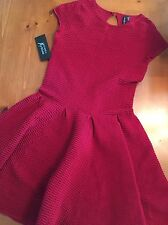 NWT $228 GUESS by Marciano red Claudette Sweater bandage Dress size M