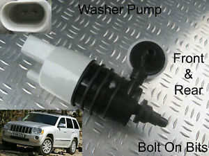 Front & Rear Windscreen Washer Pump Jeep Grand Cherokee 2005 through to 2010