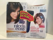 Clairol Nice & Easy Hair Color 116 Natural Brown W/Root Touch-up Light Brown NIP