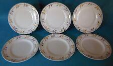 """6 Assiettes plate en céramique de longwy modele """"Limagne"""""""