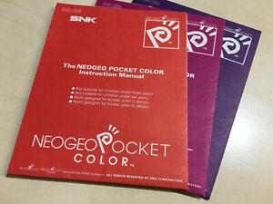 NeoGeo Pocket Color manuals for the SNK Neo Geo Pocket