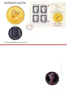👉 GREAT BRITAIN 1990 BLACK PENNY FDCOVER w/COIN MNH